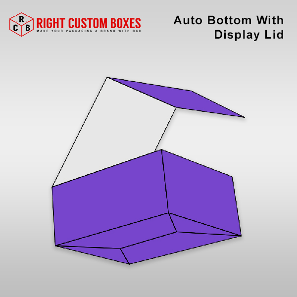 Custom Auto Bottom With Display Lid Boxes