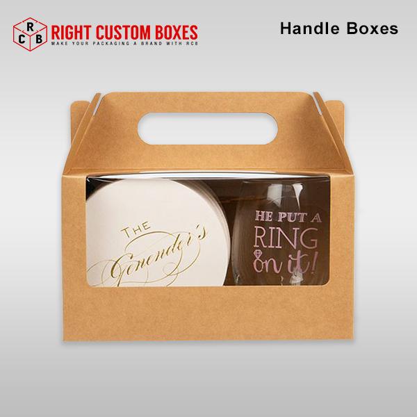 Custom Kraft Handle Boxes